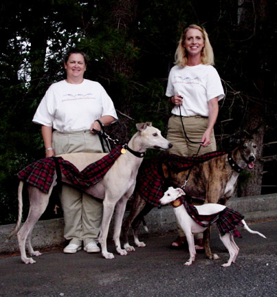 Joanne and Ann Greyhounds at Scottish Festival Greenville